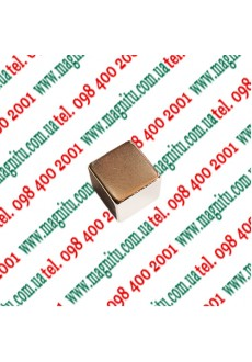 Фото: Неодимовий магніт Куб 4х4х4